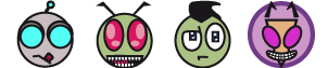 Invader Zim Emoticons by sulky-me