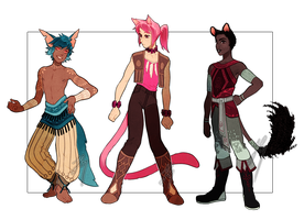 Adopts 25-27 [Auction- Closed] by sandflake-adoptables