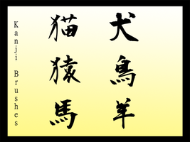 Kanji Brushes by Faeth-design
