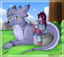 A Girl and her Pet by Hakunaro