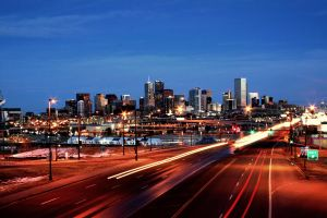 Downtown Denver at Dusk by designKase