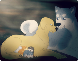 Ginga AU ||  Weed and Mel's Family by Fainalotea