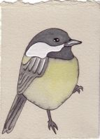Chickadee ACEO by Quilsnap