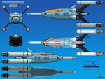 Thunderbird 10 (TB-10) Mini Rocket Ship by haryopanji