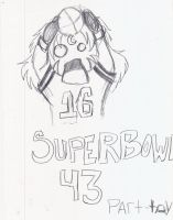 SUPER BOWL SKETCH by miharuyume