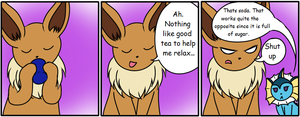 The Eevee Army #16: Tea by HappyNinjaPichu