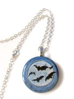Flying Bats - Pendant Necklace by sobeyondthis