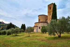 Abbey of Sant'Antimo by CitizenFresh