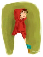 A Girl Named Red Riding Hood by juanbauty