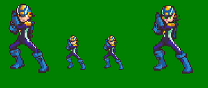 Megaman.Exe Sprite A Day 2 by Souleaterf