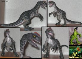 Customized dilophosaurus by IsisMasshiro