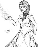Attempting to draw Elsa Frozen by archaznable30