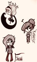 Chibi Style Experemintations of Sorts by MadRoseKai