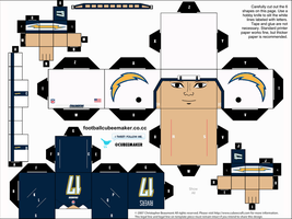 Philip Rivers Chargers Cubee by etchings13