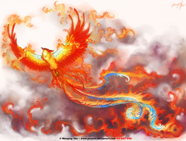 Phoenix tattoo commission by yuumei
