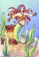 Commission: Pirate Mermaid by annsquare