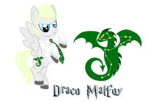 Draco Malfoy the Pegasus Pony by DracosDerpyHoof