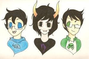 John, Gamzee, Jake! by taya4212