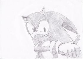 Sonic Drawing by SmashBros2008