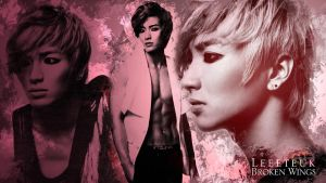 Leeteuk Broken Wings Wallpaper by Cristal1994