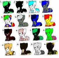 CAT ADOPTABLES-3 POINTS EACH by CollectionOfWhiskers