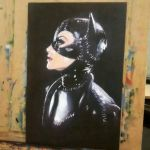 Catwoman, oil on mdf 30x45cm. by WALHH