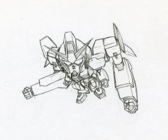 Gundam RX with eXtra hands by biomonkz