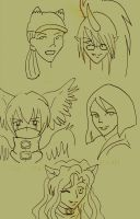 Hot chicks 1 by HARECROW