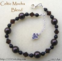 Celtic Mocha Blend Bracelet by 1337-Art