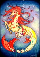Hippocampus Mother and Foal by SapphireUnicorn