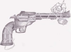Gun greyscale by jessebeans