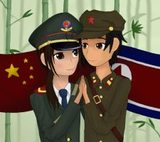 China x N.Korea by coffeetastic