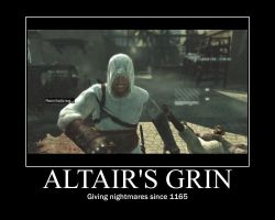 Altair's smile Demotivator by fumblef00t