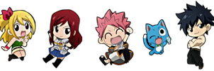Fairy Tail Mainchars - Chibi by Roschi93