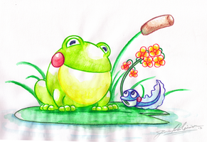 Mother Frog by Paper-Star-Zombie