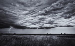 Edge Of The Storm BW by Nitrok