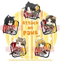 Attack on Paws Set by MaowDao