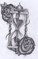 Hourglass tattoo design by Unibody