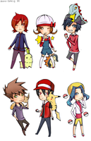Pkmn Chibi set by mono-tone