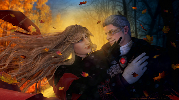 Eva and Sparda by Taitiii