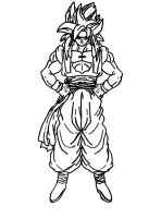 "goku ssj4 ""sharpie"" alone by codym95"