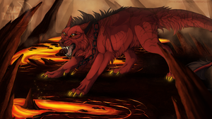 Tout feu tout flamme - Art trade by ShadeDreams