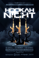 Hookah Night Flyer Template by OVNI-TEMPLATES
