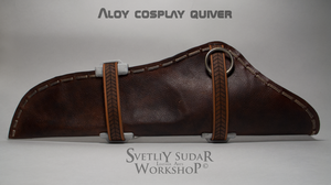 Aloy cosplay (leather quiver) by Svetliy-Sudar