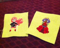 Utena and Anthy Patches by GardenProphet