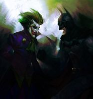 Batman and Joker by heatheryingNL