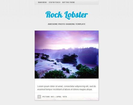 Rock Lobster WordPress theme by eXPerienceARTS