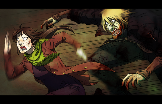 AA - Zombie Chase Collab by AnimeDumbass