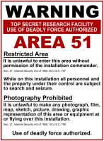 Area 51 Warning Sign by DLIMedia