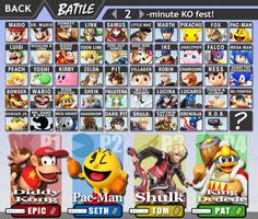 Super Smash Bros. 4 Character Select by TomCyberfire